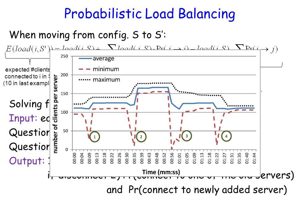 Probabilistic Load Balancing