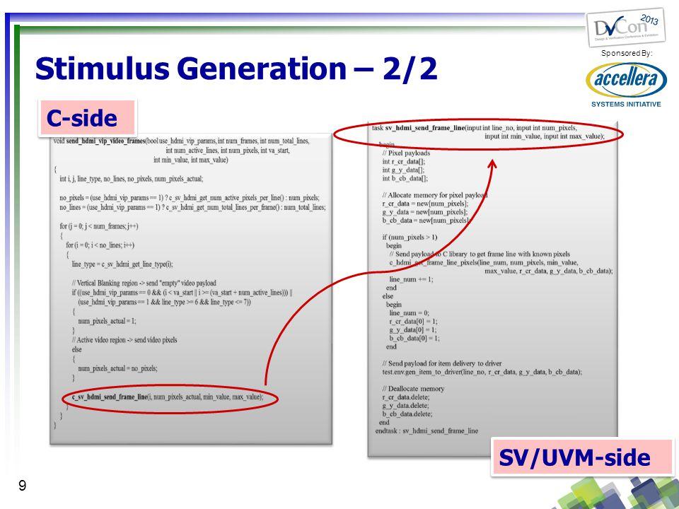 Stimulus Generation – 2/2