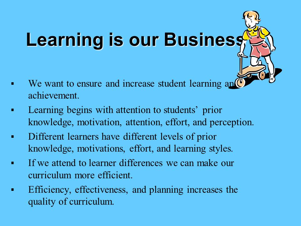Learning is our Business