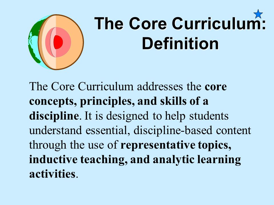 The Core Curriculum: Definition