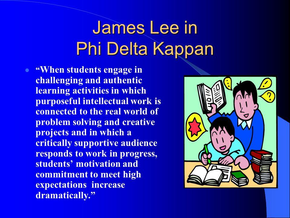 James Lee in Phi Delta Kappan