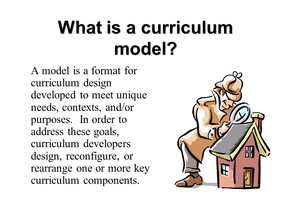 What is a curriculum model