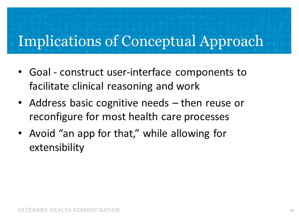 Implications of Conceptual Approach