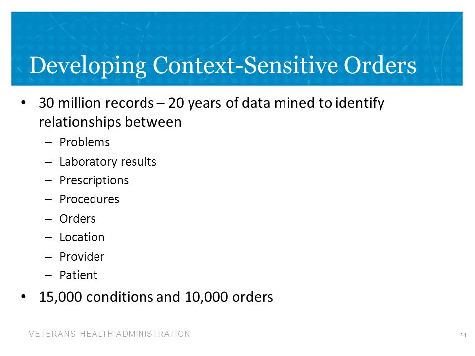 Developing Context-Sensitive Orders