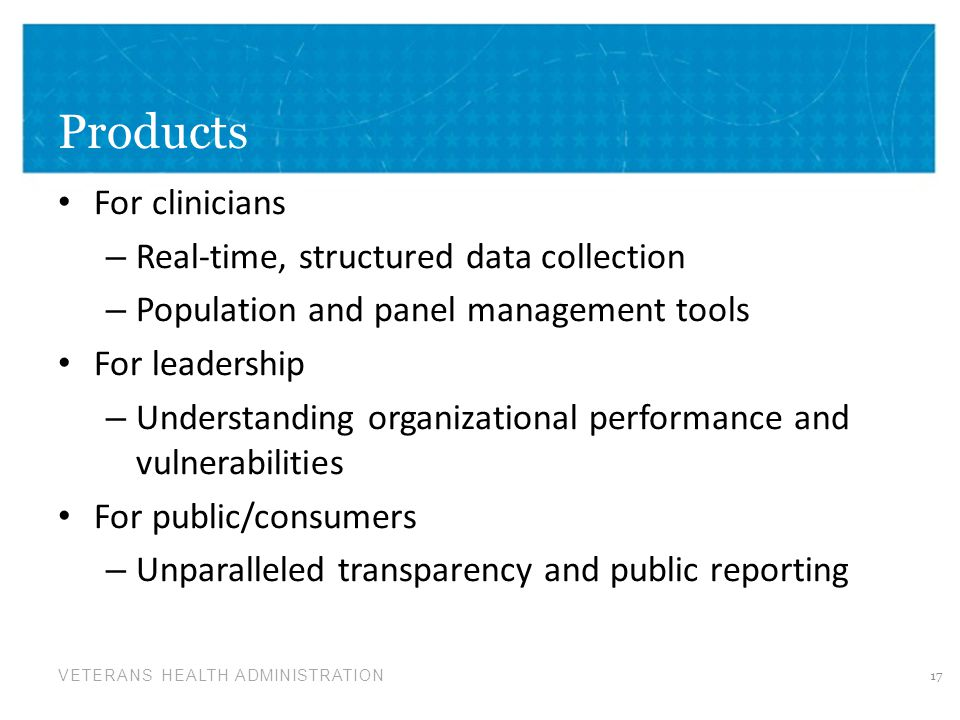 Products For clinicians Real-time, structured data collection