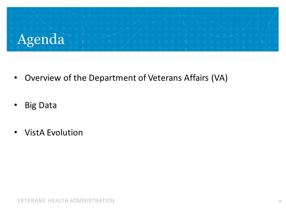 Agenda Overview of the Department of Veterans Affairs (VA) Big Data