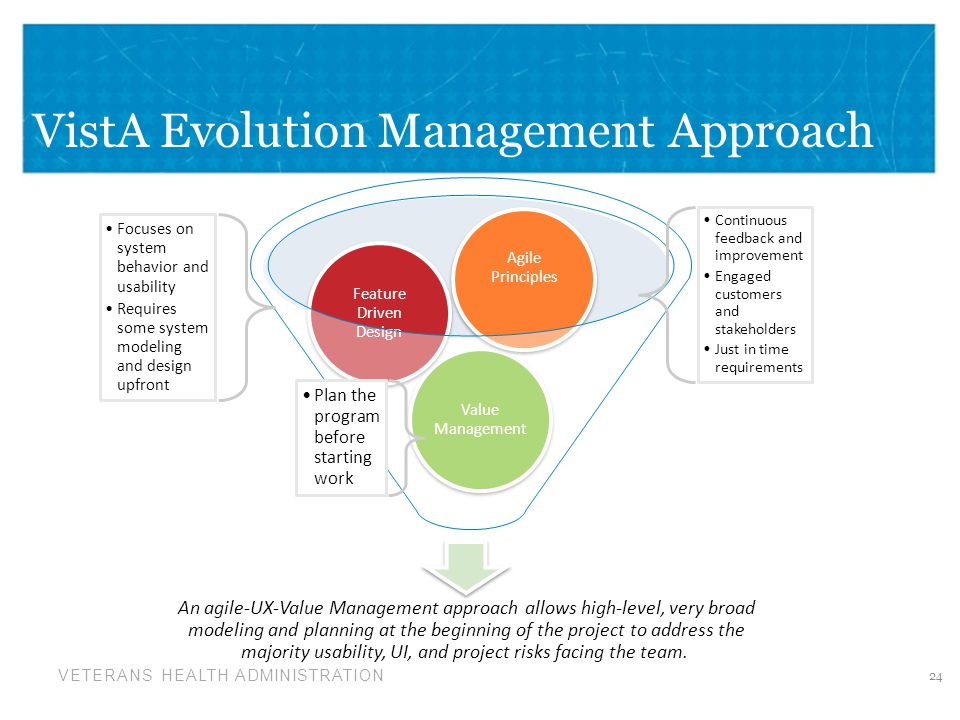 VistA Evolution Management Approach
