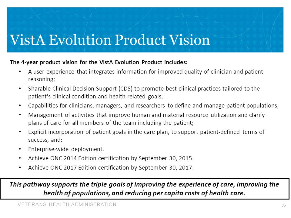 VistA Evolution Product Vision