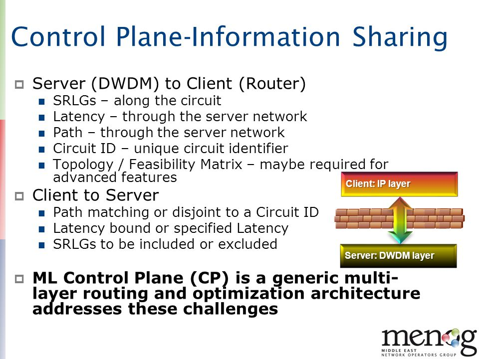 Control Plane-Information Sharing