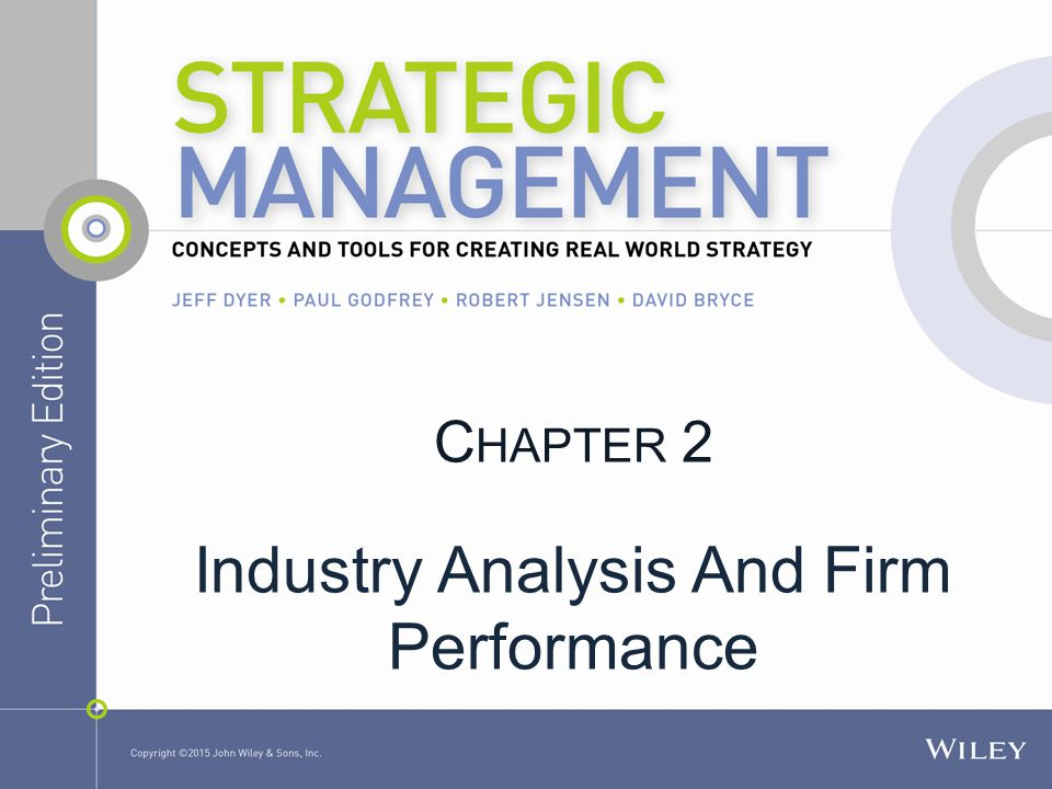 Industry Analysis And Firm Performance