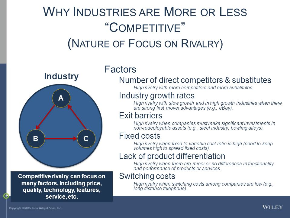 Why Industries are More or Less Competitive (Nature of Focus on Rivalry)
