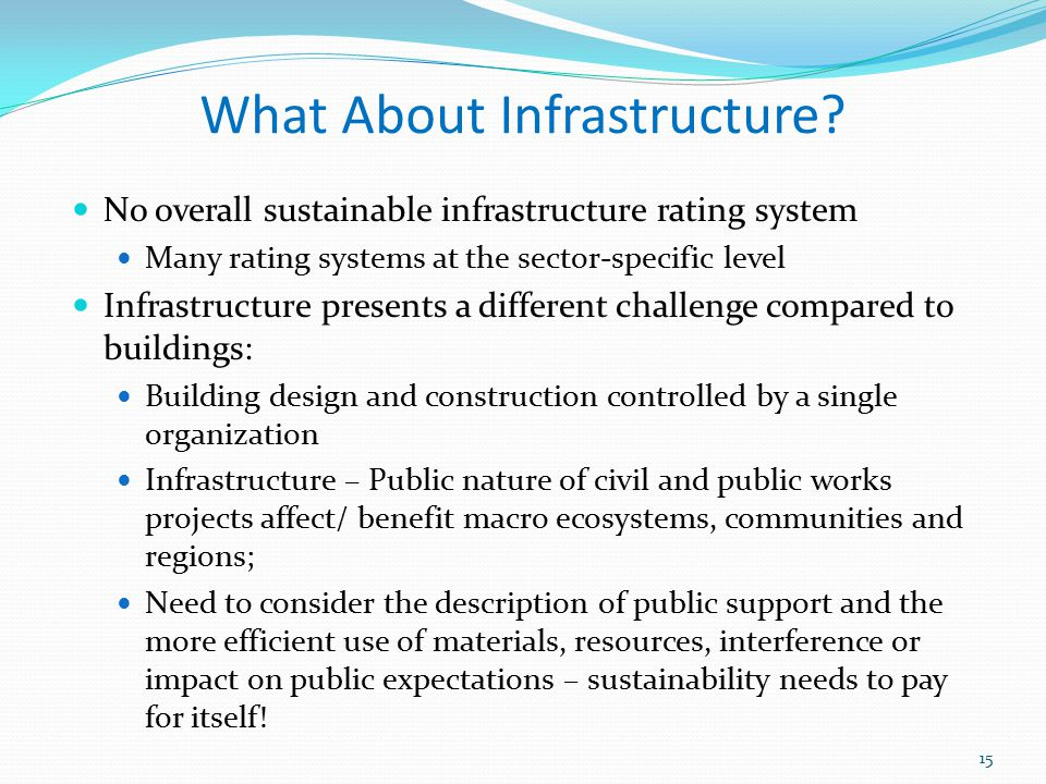 What About Infrastructure