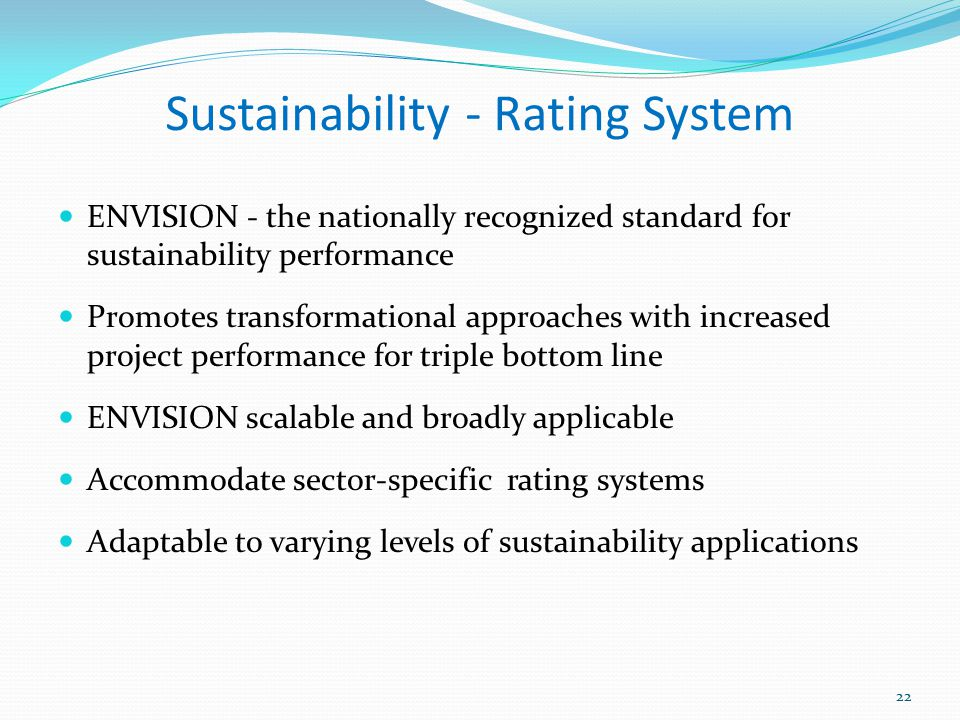 Sustainability - Rating System