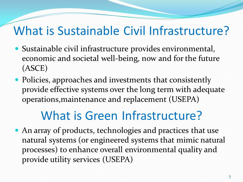 What is Sustainable Civil Infrastructure