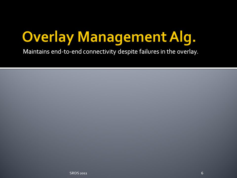 Overlay Management Alg.