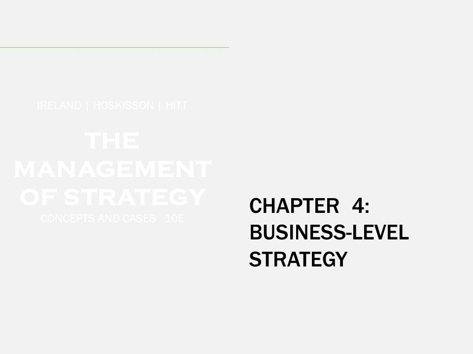 THE MANAGEMENT OF STRATEGY