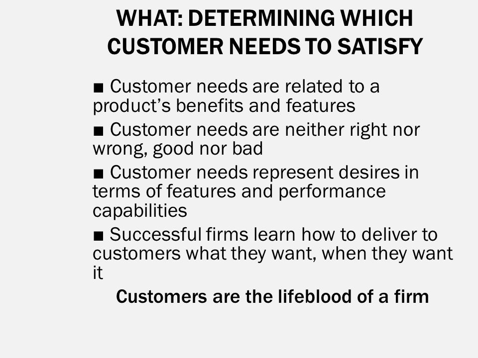 needs of customer 2 essay Mark hunter describes the five different types of customers and how to turn more of the 5 types of customers and how to the time spent with them needs to be.