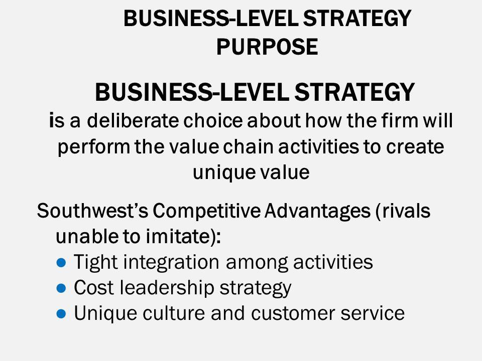 BUSINESS-LEVEL STRATEGY BUSINESS-LEVEL STRATEGY