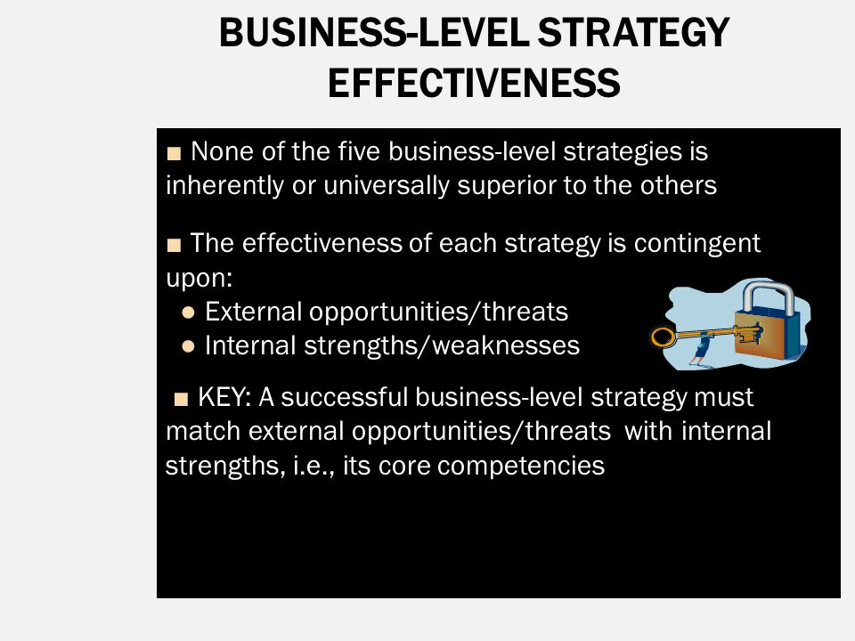 BUSINESS-LEVEL STRATEGY EFFECTIVENESS