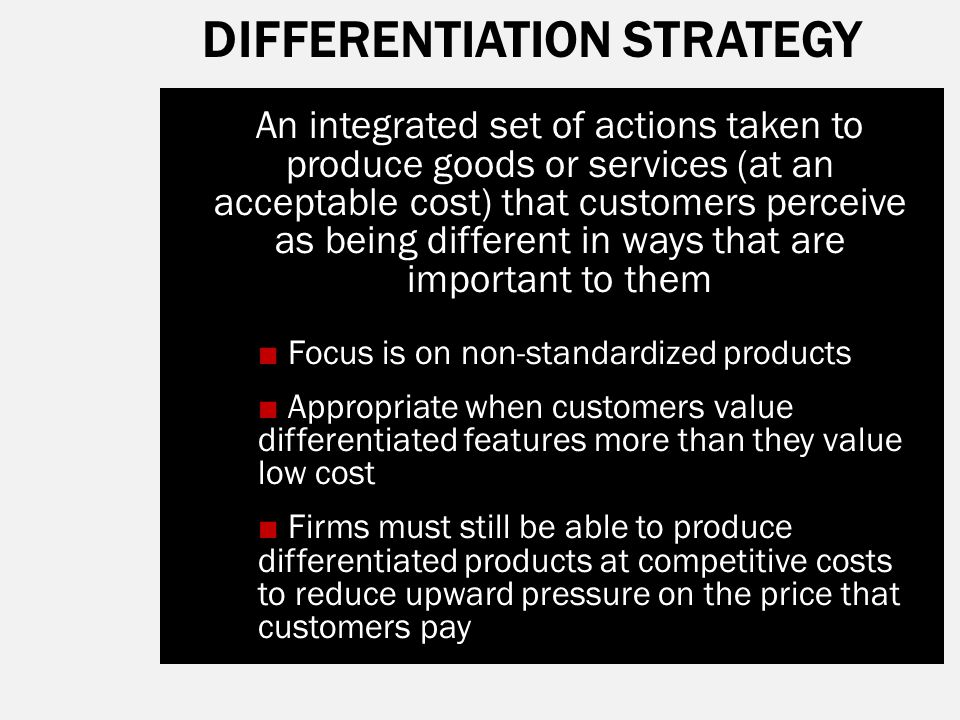 nestle integrated costleadership and differentiation stratgy The following characteristics of nestle bangladesh limited indicates that the company also implies on differentiation strategy besides cost reduction strategy- nestle bangladesh ltd offers wide range of products to consumers the company targets different market segments and designs separate offers for each it has targeted the.