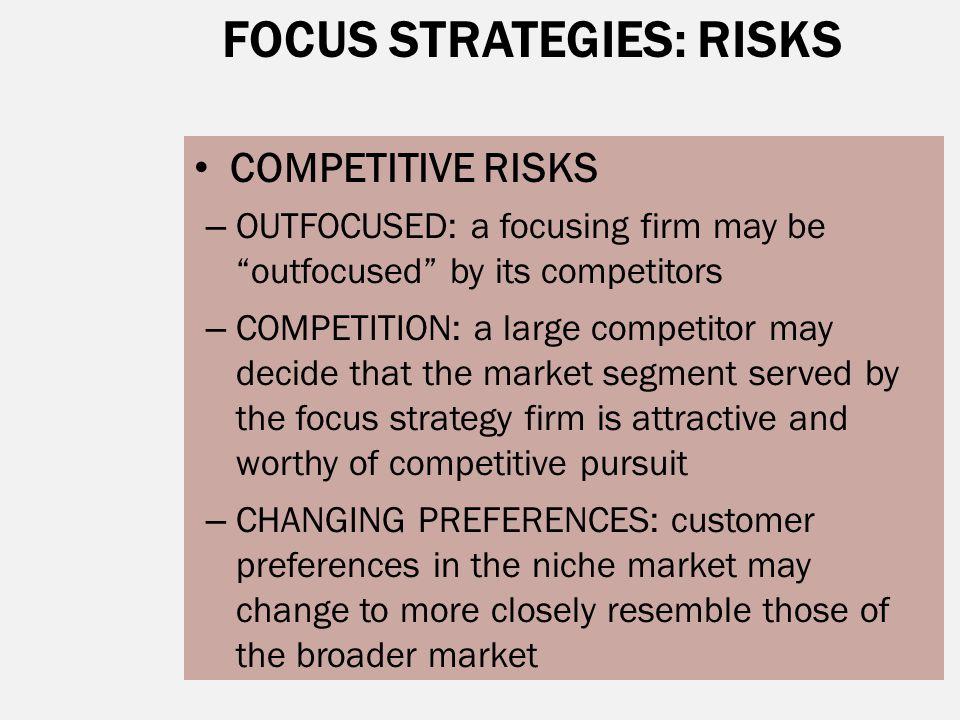 FOCUS STRATEGIES: RISKS