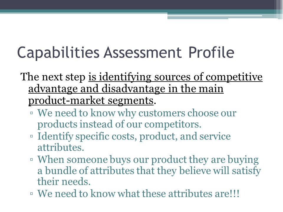 Capabilities Assessment Profile