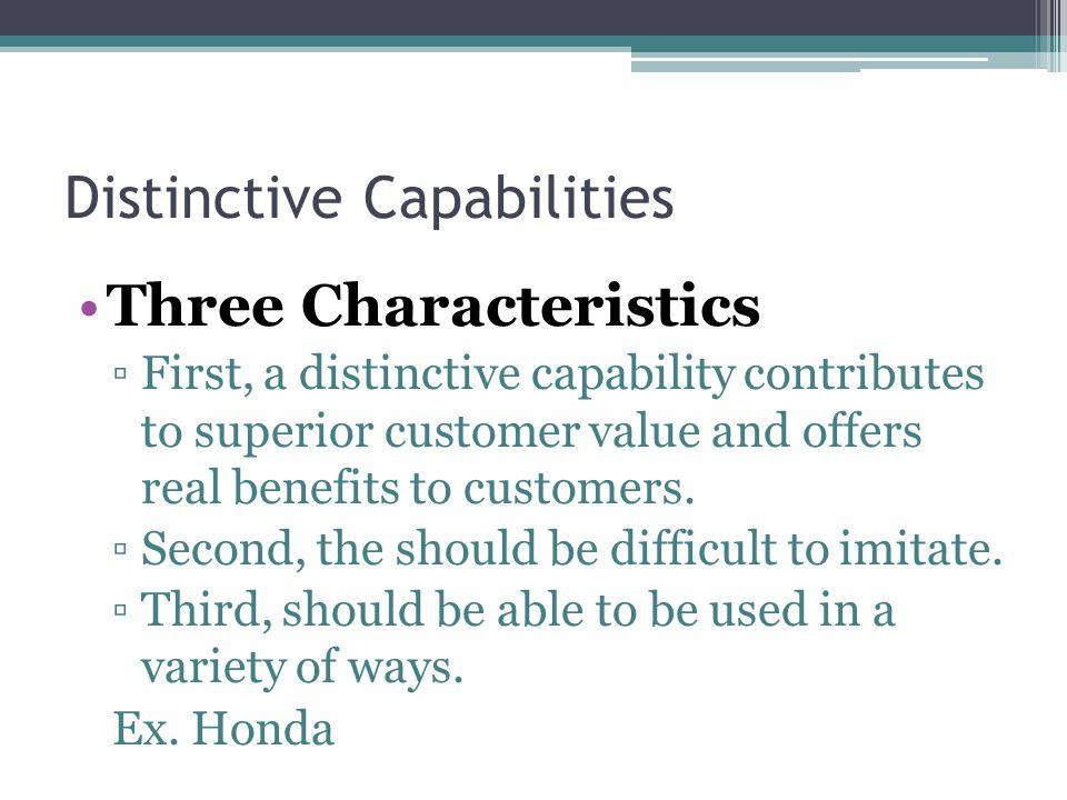Distinctive Capabilities