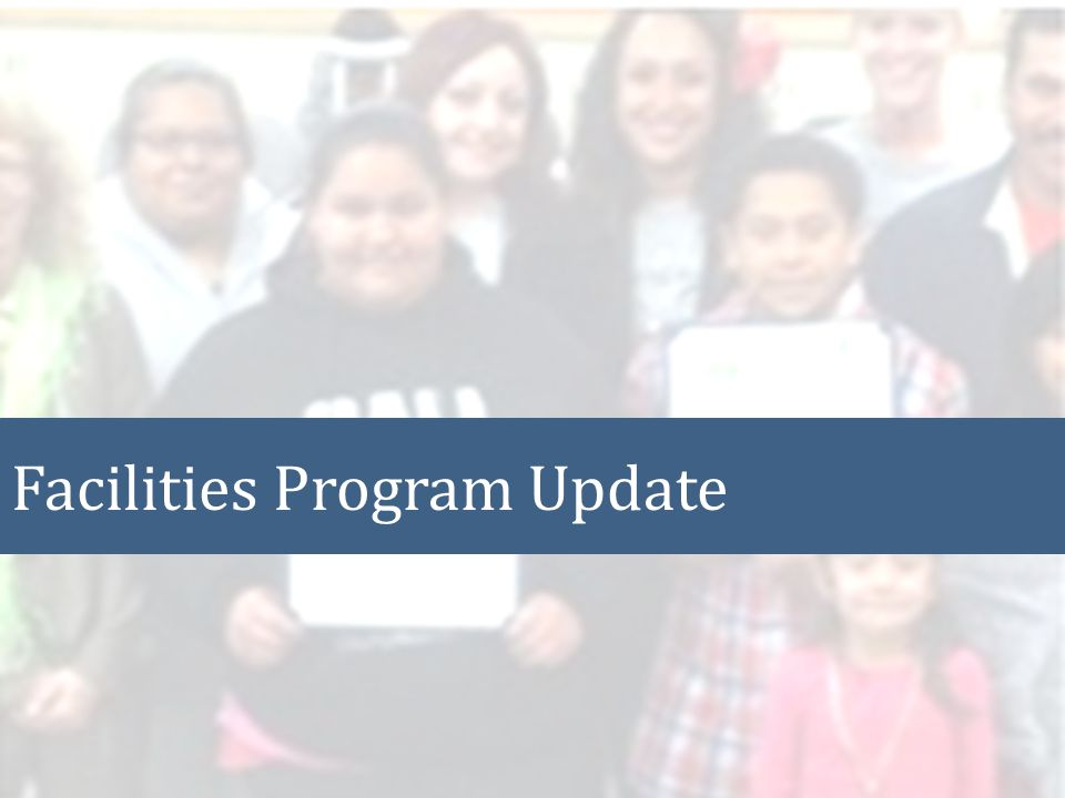 Facilities Program Update