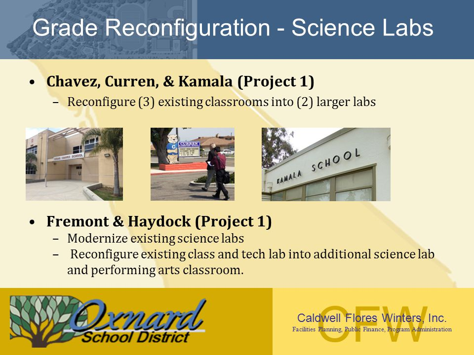 Grade Reconfiguration - Science Labs
