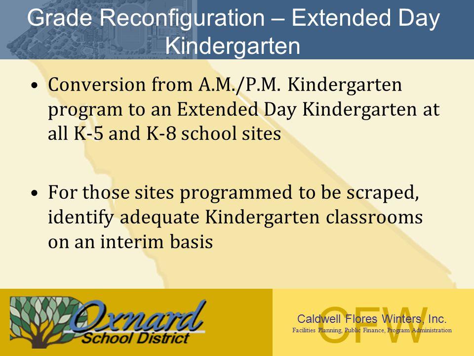 Grade Reconfiguration – Extended Day Kindergarten