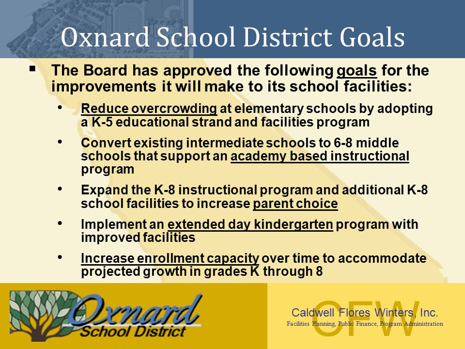 Oxnard School District Goals