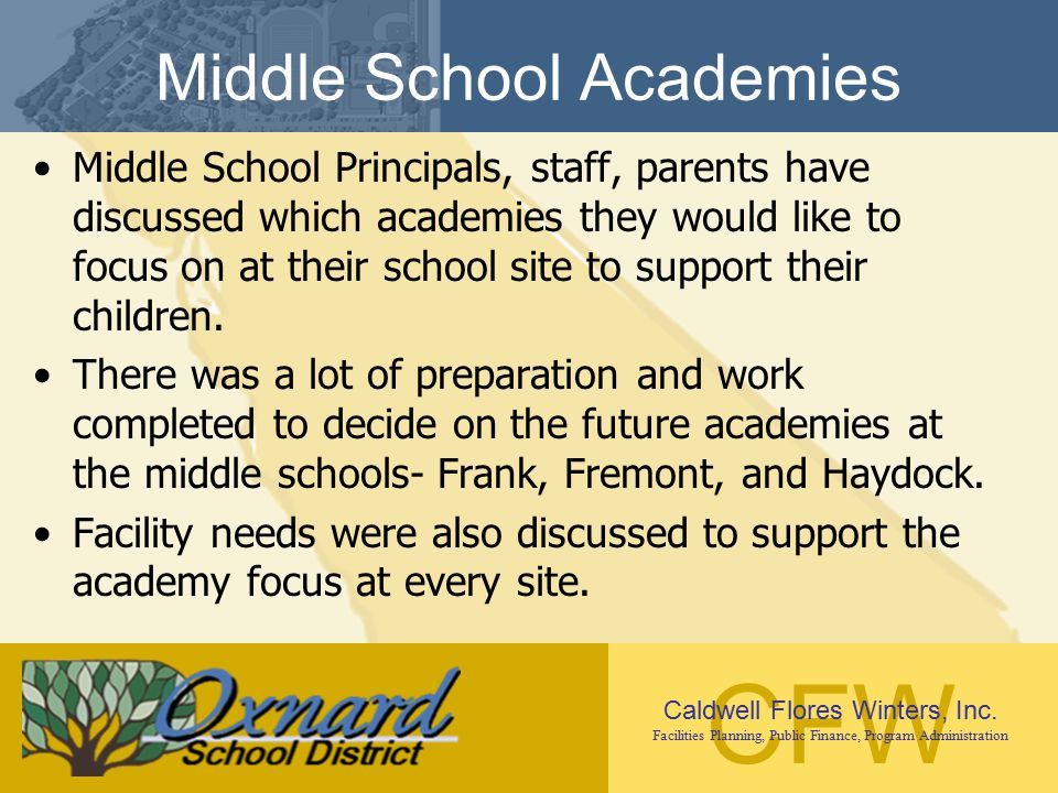 Middle School Academies