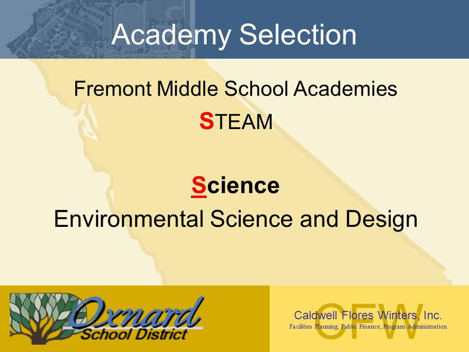Academy Selection STEAM Science Environmental Science and Design