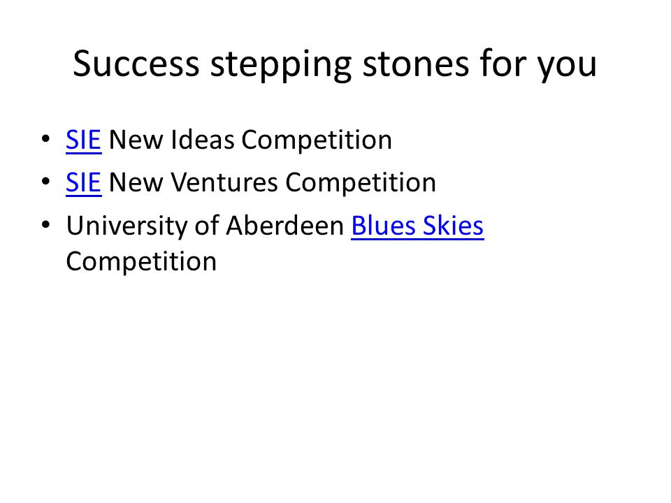 Success stepping stones for you