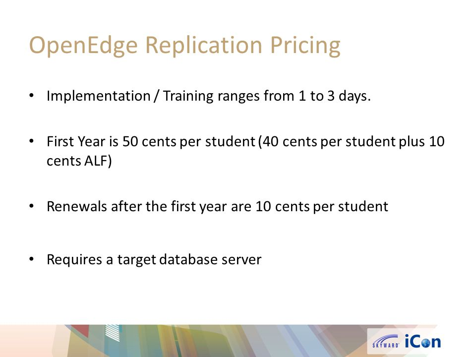 OpenEdge Replication Pricing