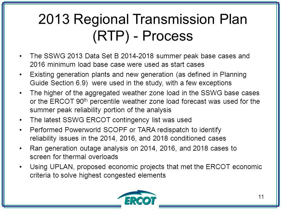 2013 Regional Transmission Plan (RTP) - Process