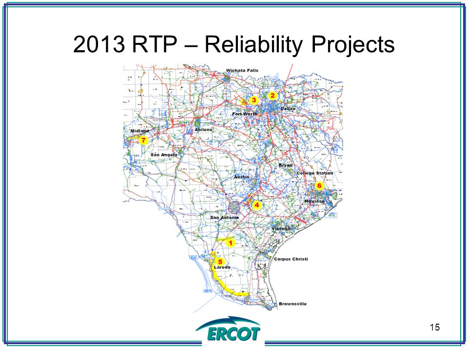 2013 RTP – Reliability Projects