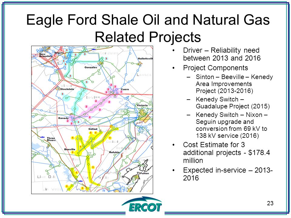 Eagle Ford Shale Oil and Natural Gas Related Projects