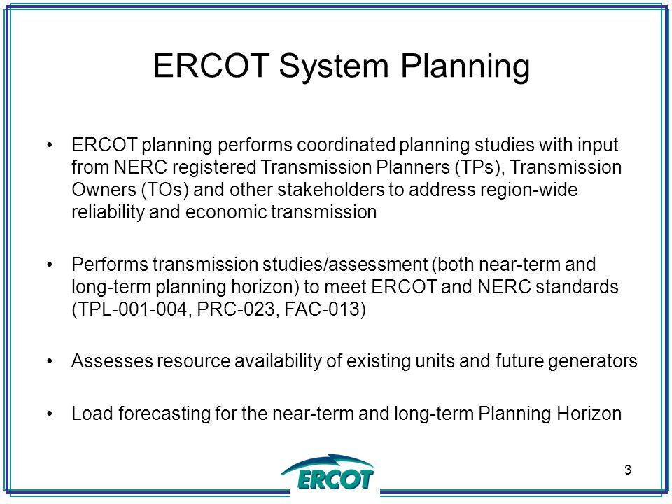 ERCOT System Planning