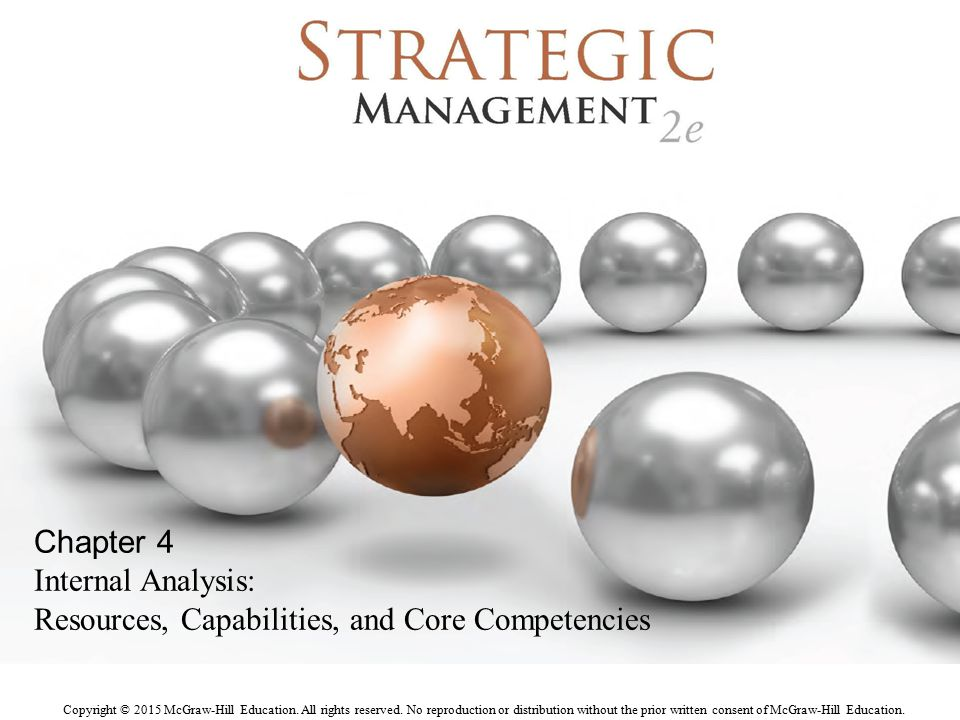 Chapter 4 Internal Analysis: Resources, Capabilities, and Core Competencies