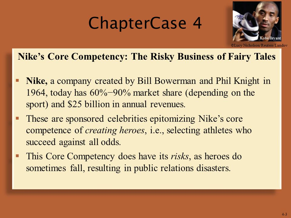 Nike's Core Competency: The Risky Business of Fairy Tales
