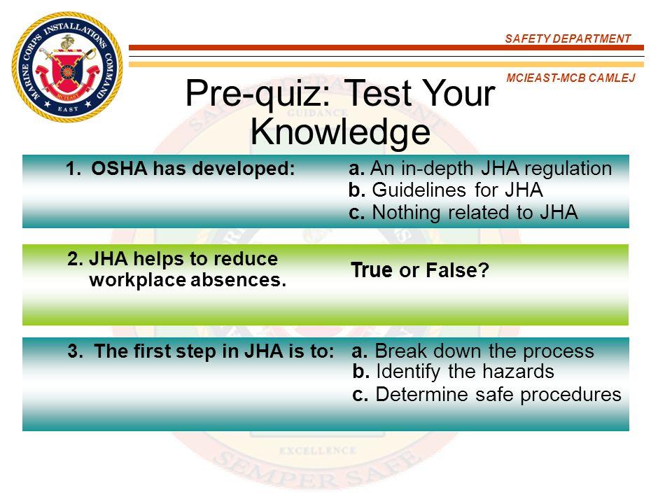 Pre-quiz: Test Your Knowledge