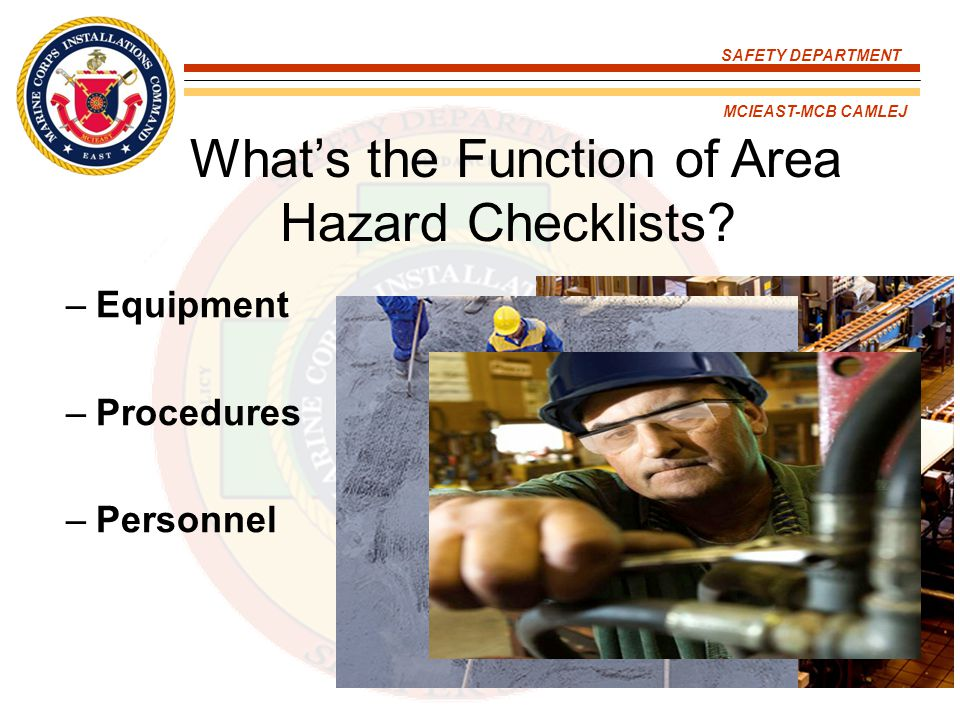 What's the Function of Area Hazard Checklists