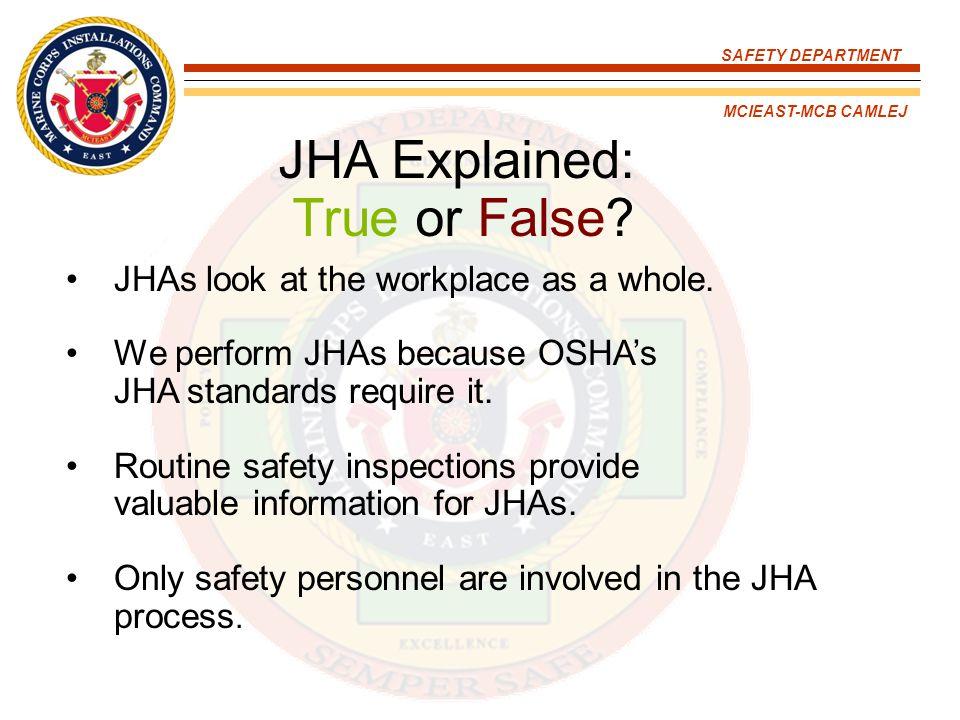 JHA Explained: True or False