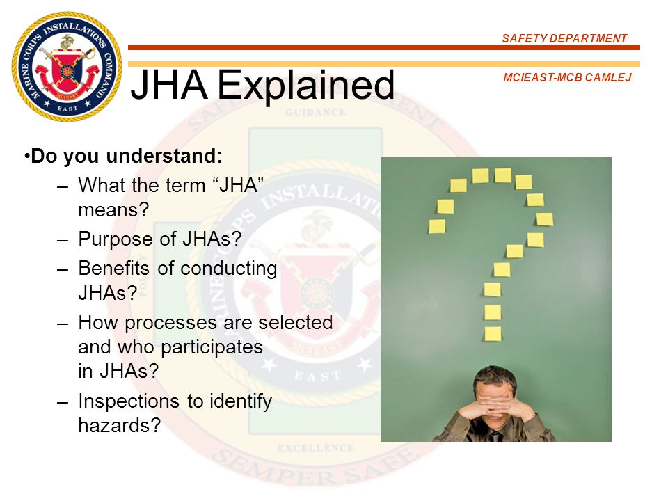 JHA Explained Do you understand: What the term JHA means