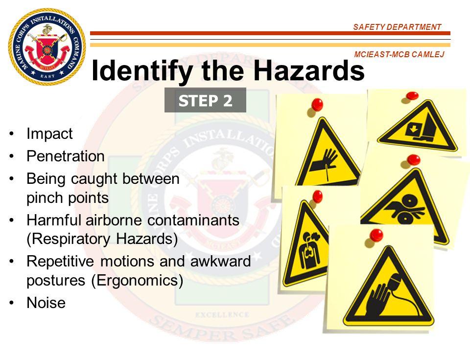 Identify the Hazards STEP 2 Impact Penetration