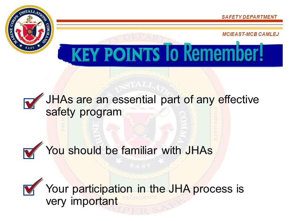 JHAs are an essential part of any effective safety program