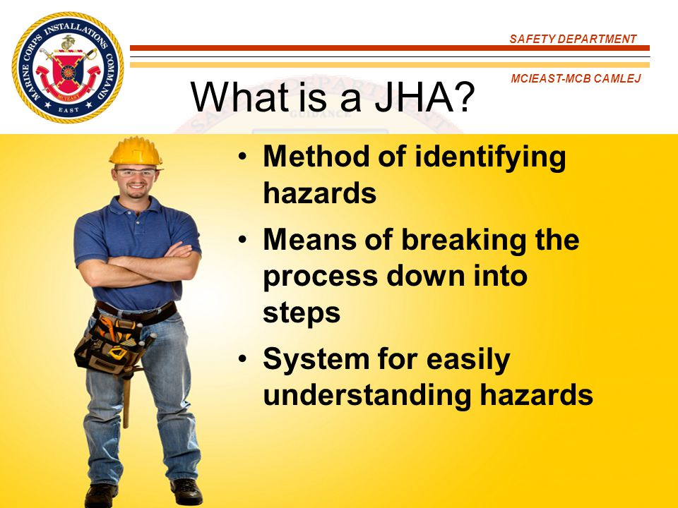 What is a JHA Method of identifying hazards