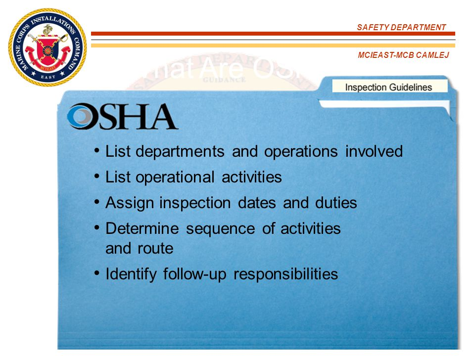 What Are OSHA's Inspections Guidelines