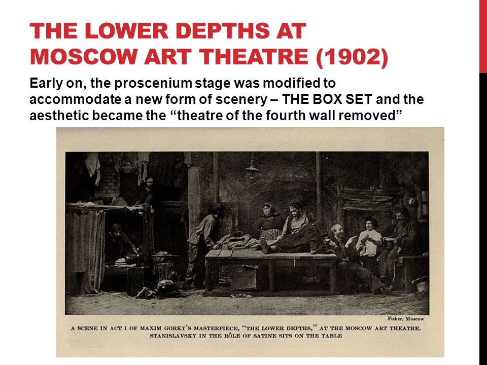 THE LOWER DEPTHS AT Moscow art theatre (1902)